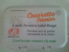 6 oeufs fermiers Label Rouge