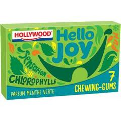 Chewing gums sans sucre parfum menthe verte sensation chlorophylle Hello Joy HOLLYWOOD, 7 tablettes, 14g