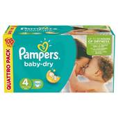 Pampers babydry couches bébé t4 maxi x100 (lot 4x25)
