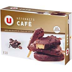 Batonnets glaces cafe U, 10x60ml