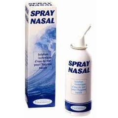 Spray nasal, solution isotonique eau de mer, hygiene nasale