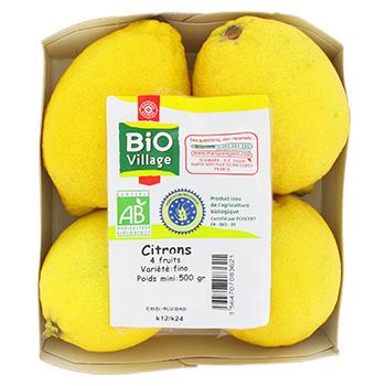 citrons bio de supermarché