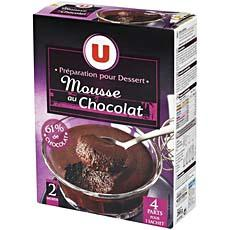 Preparation pour mousse au chocolat U, 266g