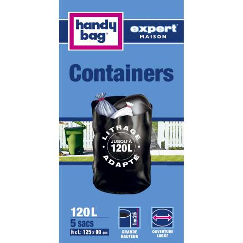 Handy-Bag Expert - 3557880352394 - Sacs Containers - 240 L - x 5 - Lot de 2