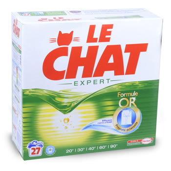 Lessive poudre le chat expert 27 doses tous les for Lessive en poudre ou liquide