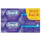 Oral B dentifrice 3D white luxe éclat et soin 2x75ml