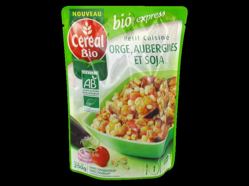 Orge aubergines et soja cereal bio 250g tous les - Plats cuisines sans gluten ...