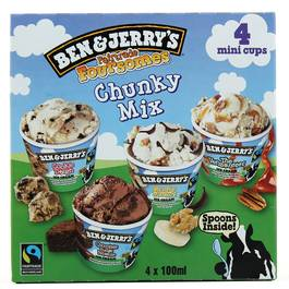 Ben&Jerry's chunky mix x4 -400ml