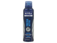 Nivea for men deodorant atomiseur fresh active lot de 2x200ml