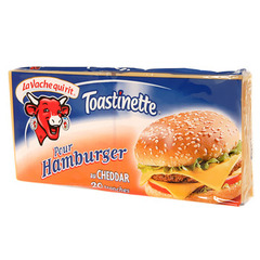 Fromage fondu pour Hamburger TOASTINETTES, 20%MG, 20 tranches, 340g
