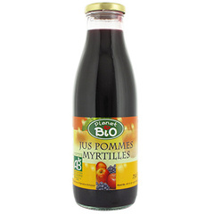 Jus pommes myrtilles PLANET BIO, bocal de 75cl