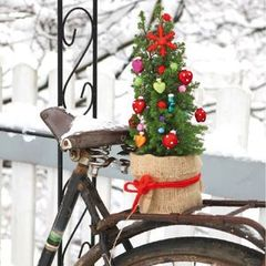 Serviettes papier Christmas bicycle