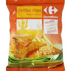 Tortillas chips nature, recette mexicaine
