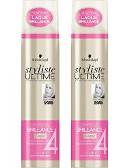 Styliste Ultîme Crystal Laque Brillance 300 ml - Lot de 2