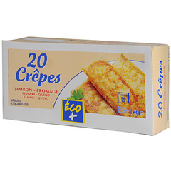 Crêpes Eco+. Jambon/fromage x20 1kg