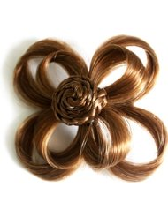 Love Hair Extensions - LHE/X/FLOWER/F/AC/5B - Fleur Clip sur Alligator - Couleur 5B - Safari