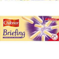 Briefing chocolat blanc, le paquet de 150g