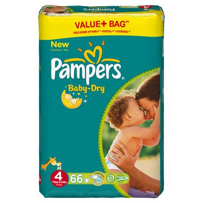 Pampers baby dry value couches t4 x66 tous les - Prix couches pampers baby dry taille 4 ...