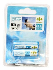 Pile rechargeable 2700 mAh, HR6-AA, Eco Planet