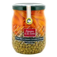 Petits pois carottes extra fins Jean Nicolas 58cl 340g