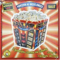 Pop corn sale gobelet micro-ondable 3x100g