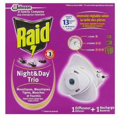 Diffuseur electrique anti volants complet Night & Day Trio RAID