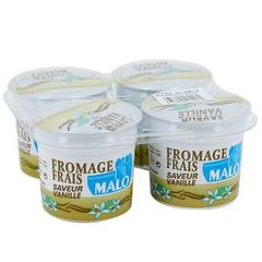 Fromage frais a la vanille MALO, 6,5%MG, 4x100g