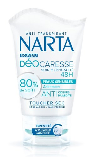 Narta déodorant femme caresse anti traces tube 40ml