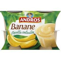 Dessert fruitier banane Recette Veloutee ANDROS, 4x97g