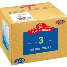 Top budget Collants mousse - 20D -daim T5 Le lot de 3