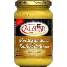 Moutarde douce au Raifort d'Alsace ALELOR, bocal 37 cl