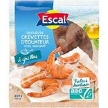 Queues crevettes easy peel ASC crues origine Equateur ESCAL, 350g