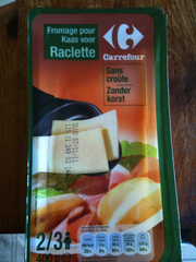 Fromage a raclette nature sans croute