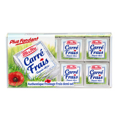 CARRE FRAIS au lait pasteurise, 17,5%MG, 8 portions, 200g