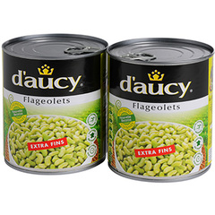 D'Aucy flageolets extra fins 2x530g