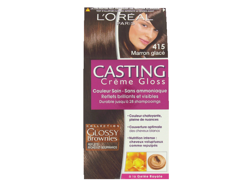 creme gloss couleur soin marron glace 415 casting tous les produits colorations prixing. Black Bedroom Furniture Sets. Home Design Ideas
