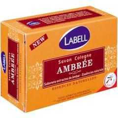 Labell, Savon de Cologne Ambree, essences naturelles, le pain de 125 g
