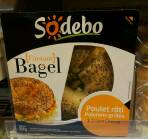 Sodebo Sandwich bagel poulet roti poivrons grilles cream cheese 210g