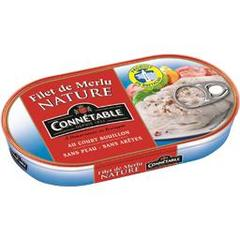 Connetable, Filet de merlu nature, la boite de 90 gr