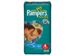 Pampers baby dry geant 7/18 kg change x50 taille 4
