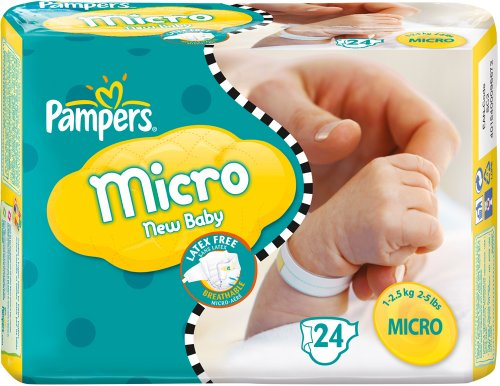 Couches Pampers micro New Baby 1.5-3kg x24