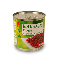 Auchan betteraves en des 265g
