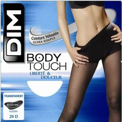 Collant body touch voile DIM, peau dor�, taille 3