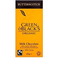 Green & Black's Organic Fairtrade Milk Chocolate - Butterscotch (100g)