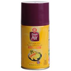 Recharge desodorisant Bien Air Spray auto agrumes melon 250ml