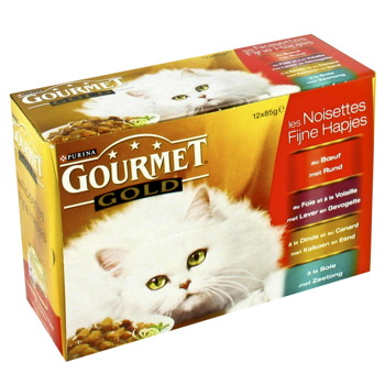 Gourmet Gold chat les noisettes 4 varietes Purina 12x85g
