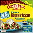 OLD EL PASO PRET A CONSOMMER KITS BASE TORTILLA SANS PIMENT BURRITOS SANS PIMENT 491G STD