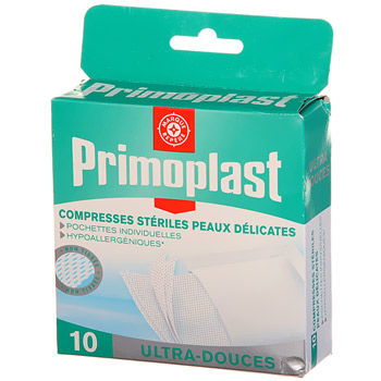 Compresses steriles Primoplast Ultra-douces x10
