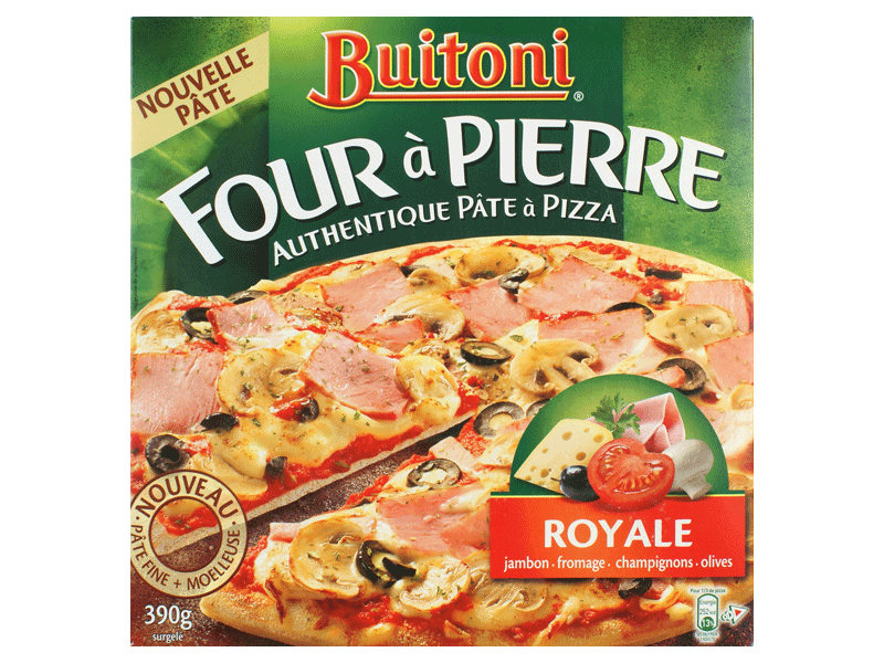 pizza royale a pate fine four a pierre buitoni 390g tous les produits pizzas quiches. Black Bedroom Furniture Sets. Home Design Ideas