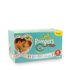 Pampers baby dry mega change x112 taille 4
